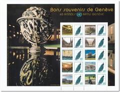 UNO Geneve 2014, Postfris MNH, Good Memories Of Geneva - Genève - Kantoor Van De Verenigde Naties