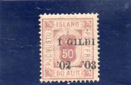ISLANDE 1902 * DENT 14x13.5 - Dienstzegels