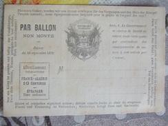 Ballon Non Monté - Postmark Collection (Covers)