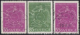 SWEDEN - Scott #889-891 Abstract Music By Ingvar Lidholm  / Complete Set Of 3 Used Stamps - Sweden