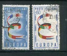 ITALIE- Y&T N°744 Et 745- Oblitérés - Europa-CEPT