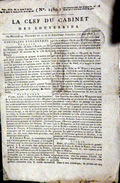 32 MANCIET LOUPS  UN MEDECIN ATTAQUE ET MORDU PAR 4 LOUPS DEVIENT FOU ET SE  SUICIDE  QUOTIDIEN LA CLEF DU CABINET 1803 - Zeitungen