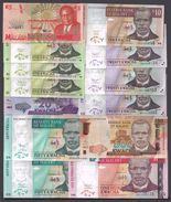 Malawi 5-500 Kwacha 1995-2014 LOT X 13 NOTES UNC !! - Malawi
