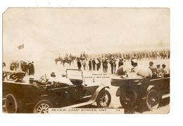 CAMP BORDEN, Ontario, Canada, Review Day, Pre-1919 McLean RPPC, Simcoe County - Ontario