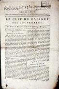 FAMINE EN 1590 ON MANGEA LES OSSEMENTS DES CIMETIERES   QUOTIDIEN LA CLEF DU CABINET 1803 - Zeitungen