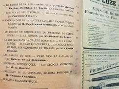 MAITRE MER DUC D'AUMALE APOLOGIE SORCELLERIE PROCES LUXEMBOURG L'EAU CONDITION DE TRAVAIL ALCOOLS Absinthe Bière Rhum - Books, Magazines, Comics