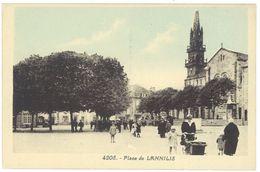 Cpa Lannilis - Place De L. - France