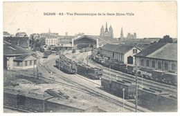 Cpa Dijon - Vue Panoramique De La Gare Dijon-Ville - Dijon