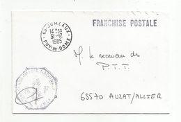 2 OBLITERATIONS DE JUMEAUX PUY DE DOME 1985 - Marcophilie (Lettres)