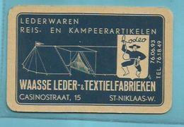"""1 X  Kaart-   JOKER   = """"WAASSE  LEDER & TEXTIELFABRIEKEN  -St. Niklaas-W   """"- - Playing Cards"""