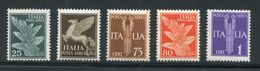 ITALIE- P.A Y&T N°11A à 14- Neufs Avec Charnière * - 1900-44 Victor Emmanuel III