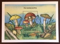 Ghana 1989 Mushrooms Minisheet MNH - Pilze