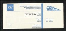 Swiss Transport Companies Railways Transportation Tickets Train Passenger Ticket  Transport - Transportation Tickets