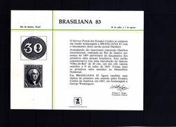 USA 1983 Brasiliana Souvenir Card - United States