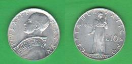 Vaticano 10 Lire 1953  Pio XII - Vatican