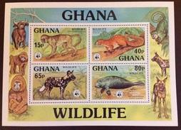 Ghana 1977 WWF Wildlife Animals Marine Mammals Minisheet MNH - Stamps