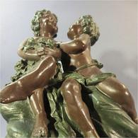* STATUE ROMANTIQUE ENFANTS - Enfant Sculpture - Autres