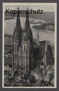 ALTE POSTKARTE DER KÖLNER DOM FLIEGERAUFNAHME VON S.-W. Köln Cöln 1940 Ansichtskarte Cpa Postcard AK - Koeln