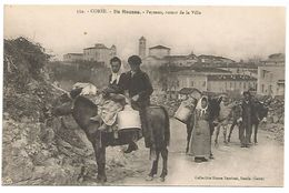 CORSE - ILE ROUSSE - PAYSANS , RETOUR DE LA VILLE , COLLECTION SIMON DAMIANI , BASTIA ( CORSE ) . - Bastia