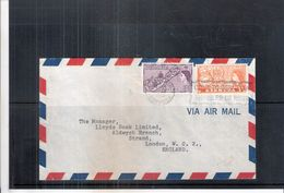Cover From Bermuda To England - 1955 (to See) - Bermudes