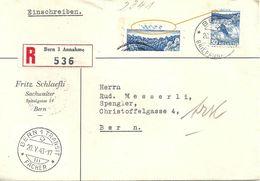 """Lokaler R Brief  """"Schlaefli, Sachverwalter, Bern""""  (Abart)            1943 - Suisse"""