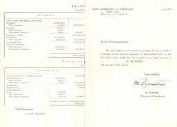Bank Handlowy - Warszawie - Warschau Polen - Balance 1958 - Old Paper