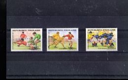 TOGO  1217 + A 632/633** SUR LA COUPE DU MONDE DE RUGBY 1987 - Togo (1960-...)