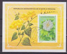 Sao Tome E Principe 1979 Flowers M/s  Imperforated Used Cto ** Mnh (37122) - Sao Tome En Principe