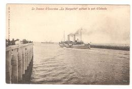 Oostende / Ostende - Le Steamer D'Excursion La Margueritte Quittant Le Port D'Ostende - Enkele Rug - Boat / Schiff - Oostende