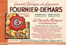 -ref  V637- Publicité Alcool - Liqueurs Fournier Demars - Saint Amand -cher - Dijon -cotes D Or  - Carte Bon Etat - - Publicité