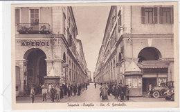 CARD IMPERIA ONEGLIA VIA A. GANDOLFO ANIMATA  VECCHIA AUTO PUB. APERITIVO APEROL   -FP-N-2-0882-27815 - Imperia