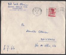 XB111    Michelangiolesca L.40 Isolato Su Busta Commerciale HOTEL BELLE VUE Canedabbia - 1961-70: Marcofilia