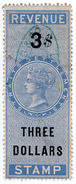 (I.B) Malaya (Straits Settlements) Revenue : Duty Stamp $3 - Great Britain (former Colonies & Protectorates)
