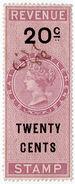 (I.B) Malaya (Straits Settlements) Revenue : Duty Stamp 20c - Grande-Bretagne (ex-colonies & Protectorats)