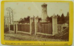 Photo Ancienne CDV Vers 1870/80 MONUMENT DE CHAMPIGNY - Ancianas (antes De 1900)