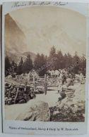 Photo Ancienne CDV Vers 1870/80 By W. ENGLAND Chaine Du Mont Blanc - Photos