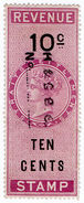 (I.B) Malaya (Straits Settlements) Revenue : Duty Stamp 10c - Great Britain (former Colonies & Protectorates)