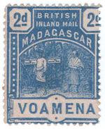 (I.B) Madagascar Postal : British Inland Mail 2d (Voamena) - Madagascar (1960-...)