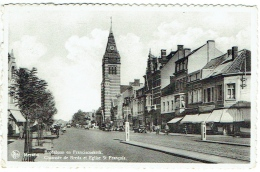 Merksem/Merxem. Bredabaan En Franciscuskerk. Chaussée De Breda Et Eglise St.François. - Belgique
