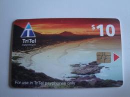 1 Chip Phonecard From Australia -  Tritel - Beach - Australie