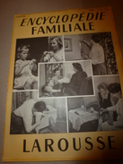 1950 ENCYCLOPEDIE FAMILIALE LAROUSSE ->L'habitation, Le Mobilier , Le Couchage - Encyclopédies