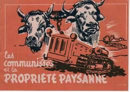 Les Communistes Et La Propriété Paysanne. Livret De 16 Pages Du Parti Communiste Français (PCF), Années 1950 - Historical Documents