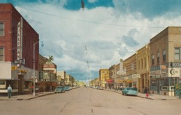 Miles City Montana, Street Scene, Autos, Business Signs, C1950s Vintage Postcard - Miles City