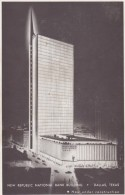 Dallas Texas, New Republic National Bank Building, Architecture Under Construction C1940s/50s Vintage Postcard - Dallas