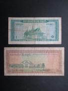 LOT 2 BILLETS CAMBODGE (V1719) 10 Riels & 1 Riel (2 Vues) Banque Nationale Du Cambodge - Cambodge