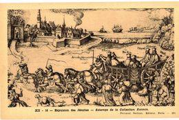 CPA N°13232 - LOT DE 4 CARTES EXPULSION DES JESUITES + SIGNATURE A VERVINS + ATTENTAT J. CHATEL + ABANDON DES ... - Storia