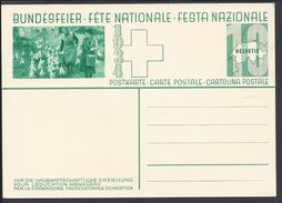 """SUISSE - 1934 - Carte Fête Nationale Illustrée """"Pour La Formation Professionelle Domestique"""" B/TB - - Switzerland"""
