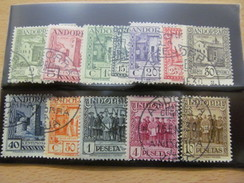 E674) Spanisch-Andorra O Freimarken 1929 Gestempelt ,Nr 15-26 Kpl Incl. Peseten,Michelwert 340 EUR - Andorra Española