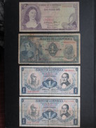 LOT 5 BILLETS COLOMBIE (V1719) 4 X 1 Peso Oro & 1 X 2 Pesos Oros (8 Vues) BANCA DE LA REPUBLICA BOGOTA COLOMBIA - Colombie