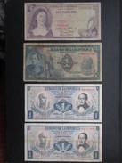 LOT 5 BILLETS COLOMBIE (V1719) 4 X 1 Peso Oro & 1 X 2 Pesos Oros (8 Vues) BANCA DE LA REPUBLICA BOGOTA COLOMBIA - Colombia